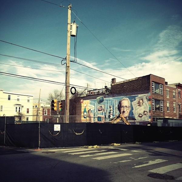Noam Chomsky Mural To Be Swallowed Up by Capitalism, Naturally