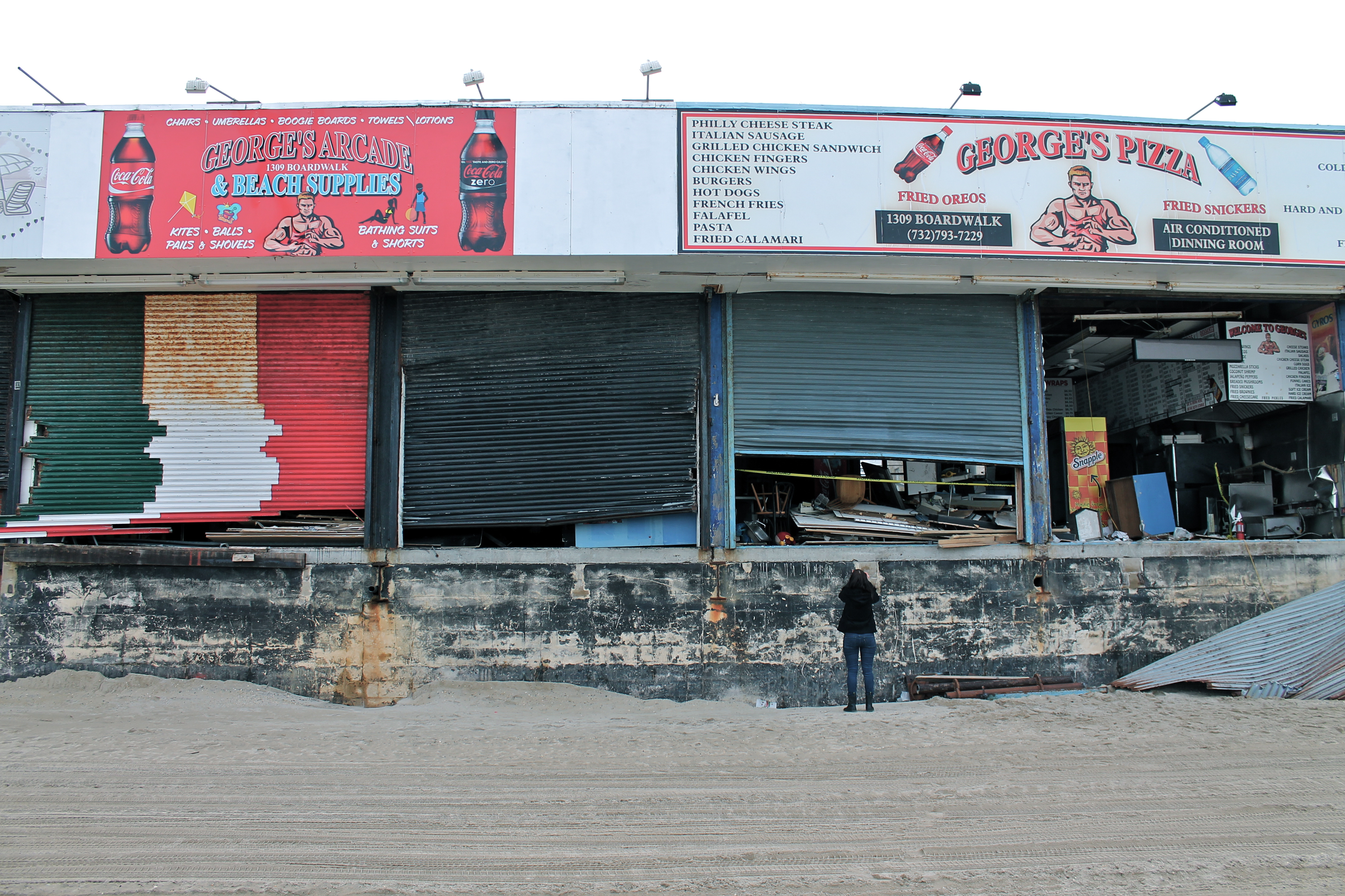 seaside heights nearly 4 months after hurricane sandy