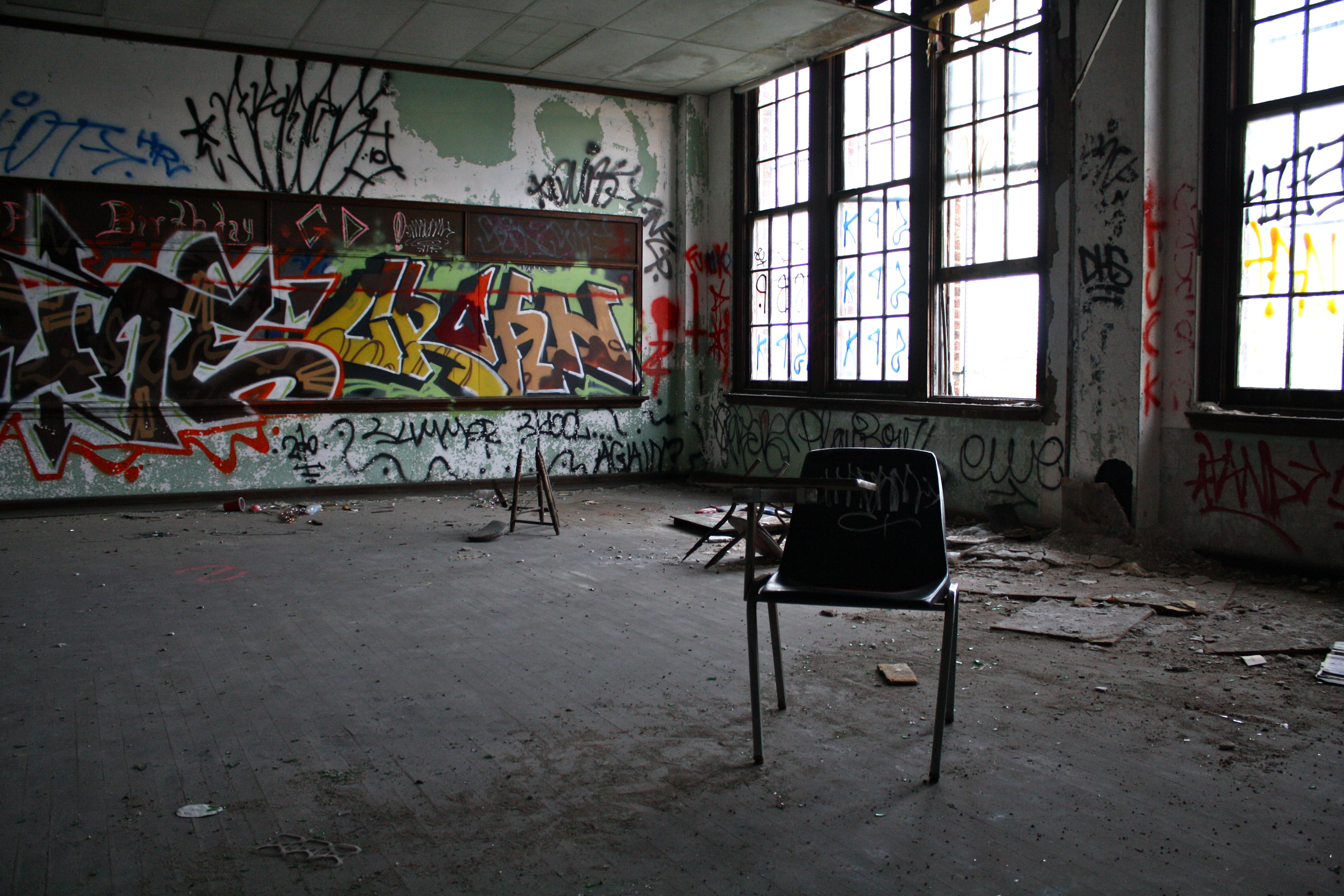 Inside one of philadelphia s abandoned schools streets dept - The house in the abandoned school ...