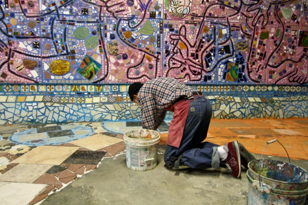 Could There Soon Be A Second Magic Gardens in Philly? Inside Isaiah Zagar's Rarely Seen Watkins Street Studio!