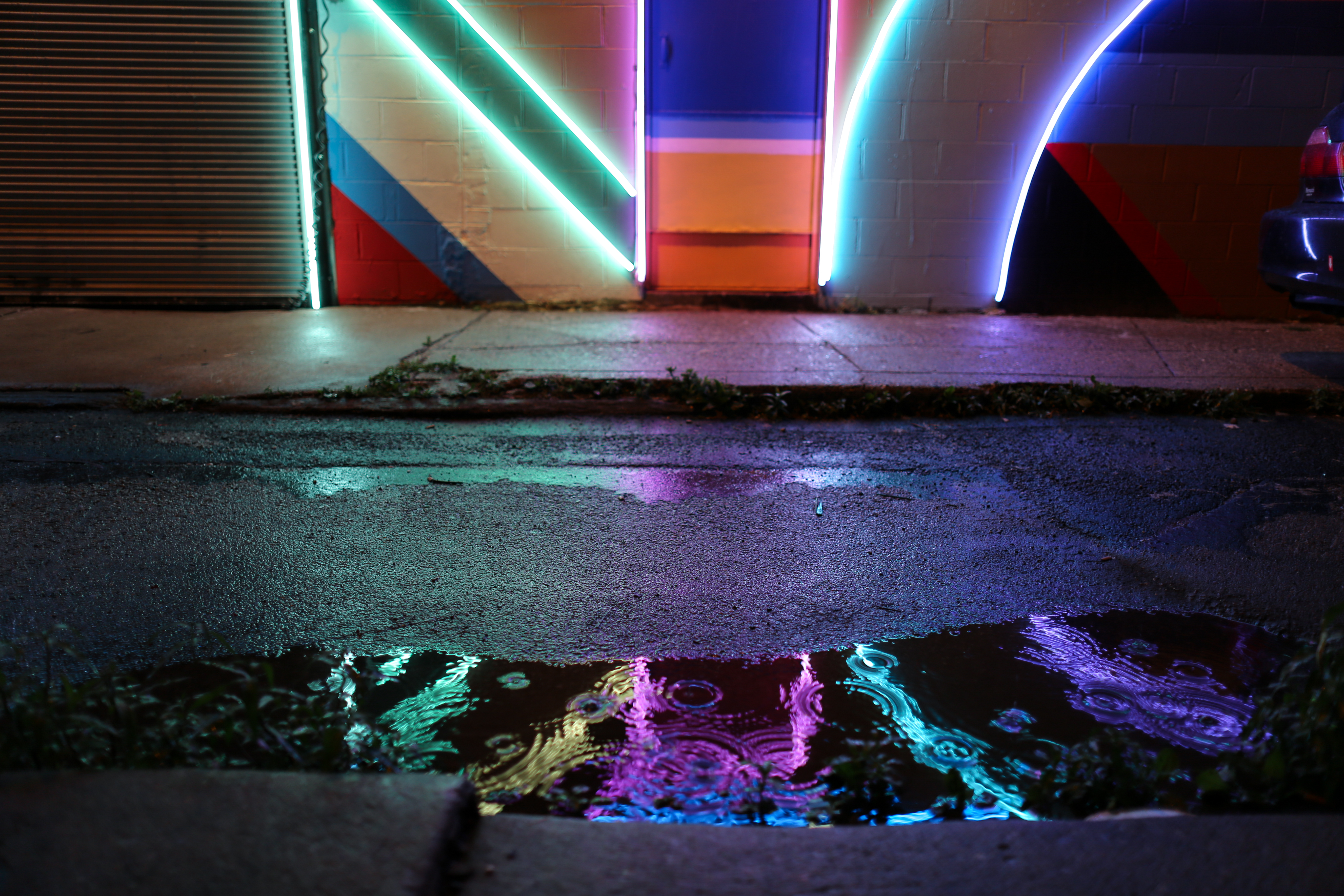 amazing new electric light mural in south philly streets dept