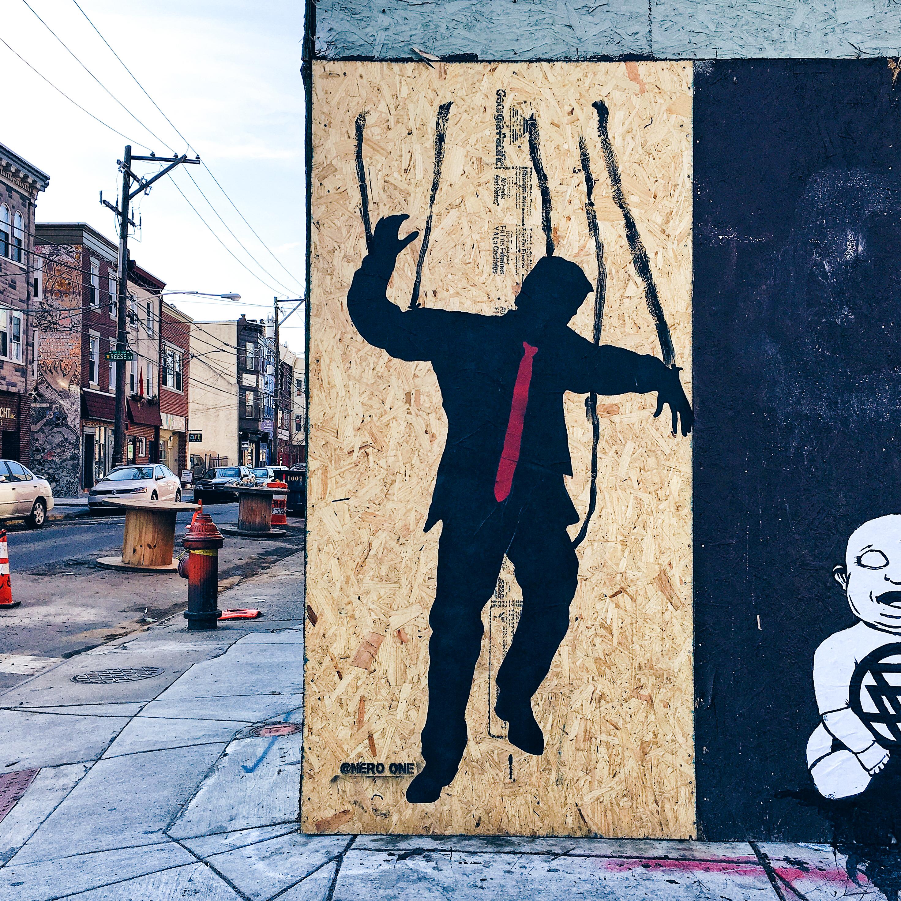 Philly S Street Artists Don T Like President Trump Sad Streets Dept