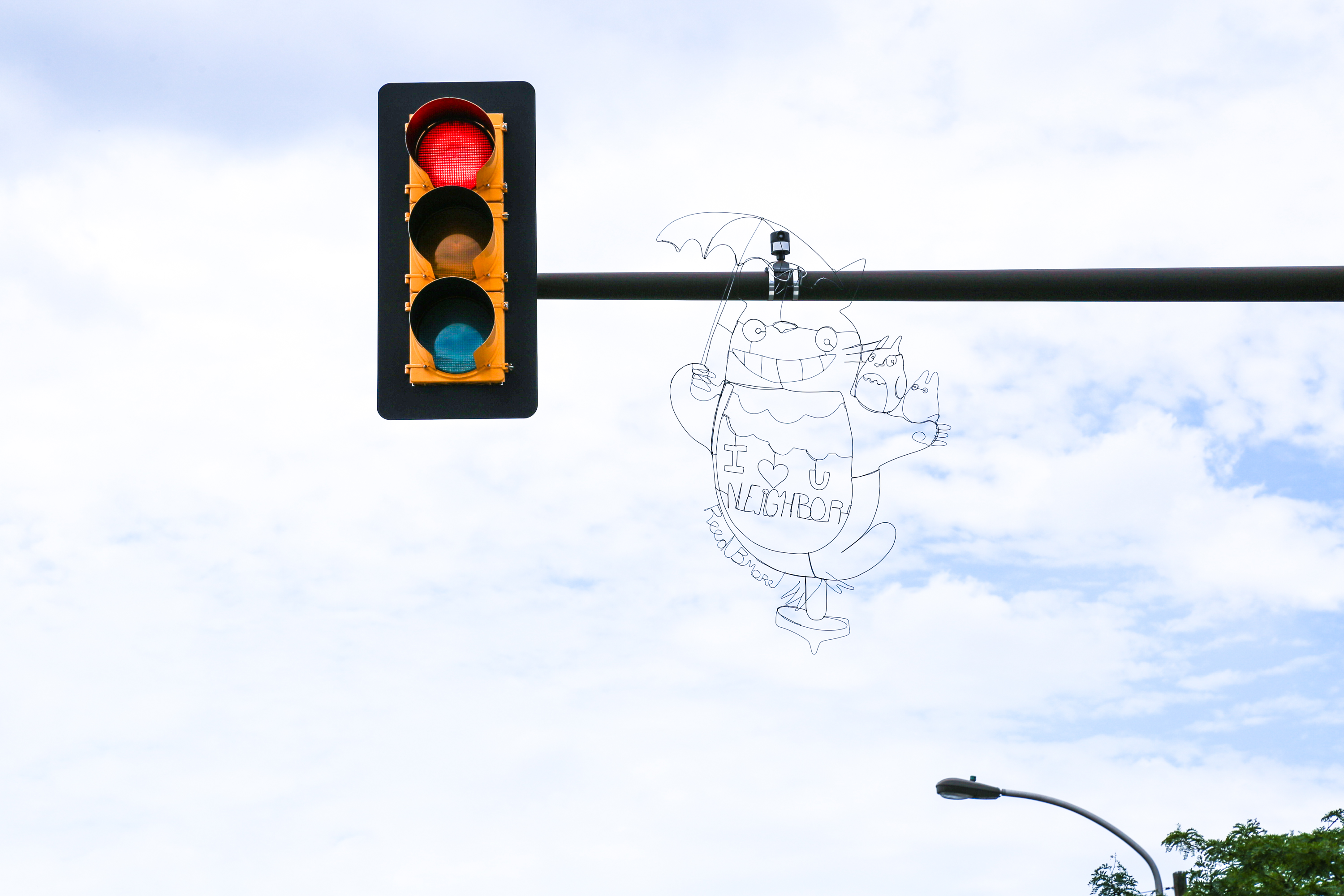 Streets Dept Discovering Art On The Of Philadelphia Est Traffic Light Wiring U Neighbor Hovering Above Intersection Girard And Columbia Avenues See Past Wire Installations From Reed Around Philly Here