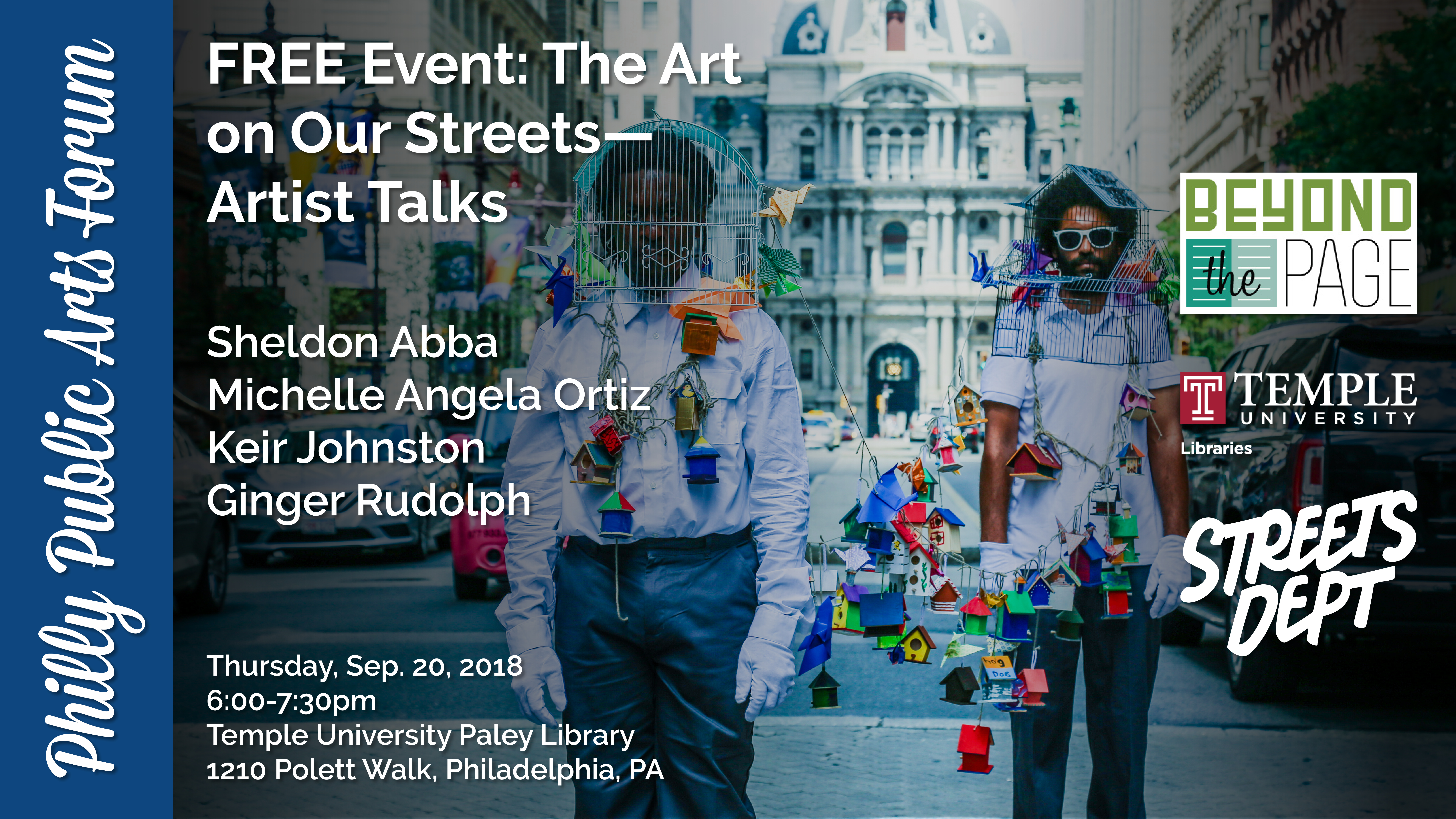 """Announcing the """"Philly Public Arts Forum,"""" Exploring the"""