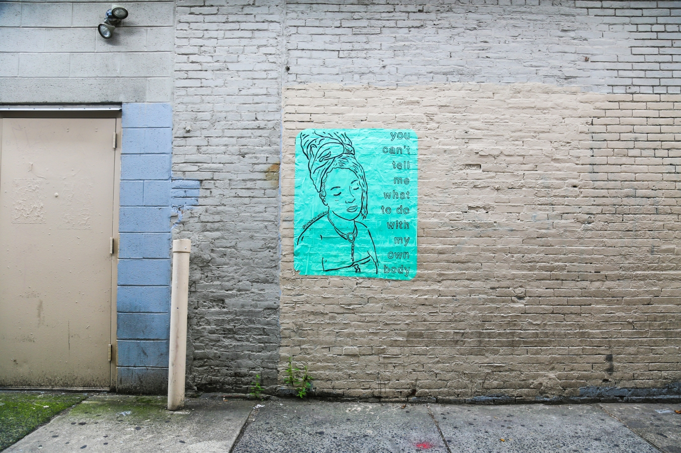 """New Wheatpaste from Symone Salib: """"You Can't Tell Me What to Do with My Own Body"""""""