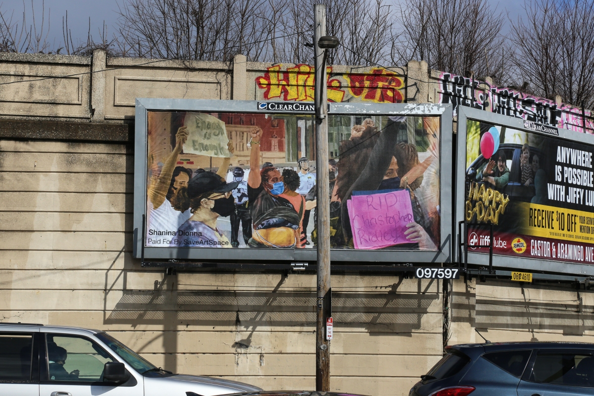 Artist Shanina Dionna Depicts Black Lives Matter Protest In New Port Richmond Billboard Installation